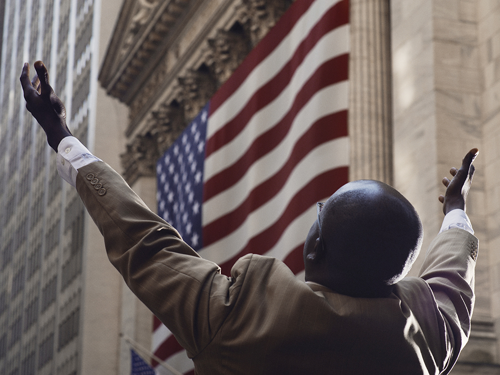 A street preacher appeals to Wall Street to repent